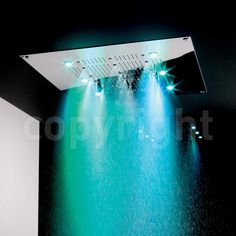 Dazzling green Rio Shower Head With Lights.