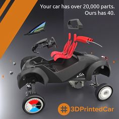 Local Motors Begins Their Six Day Quest to 3D Print the 'Strati' Car Live at IMTS http://3dprint.com/14358/3d-printed-car-local-motors/