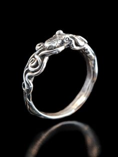 Octopus Ring Silver Tentacle Ring Tentacle Twist by martymagic