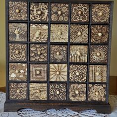 25 Drawer Cabinet with Pyrography Design. Great designs