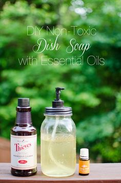 Easy DIY Dish Soap using Essential Oils (Diy Soap Glycerin) Thieves Essential Oil, Essential Oils Cleaning, Essential Oil Uses, Young Living Essential Oils, Pecan Cobbler, Living Oils, Natural Cleaning Products, Household Products, Natural Products