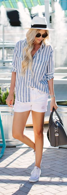 linen button down shirt + white converse