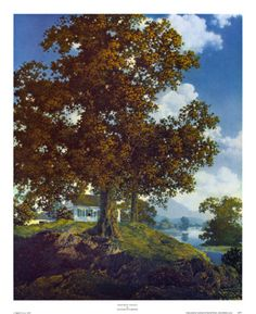 """Peaceful Valley"" by Maxfield Parrish"