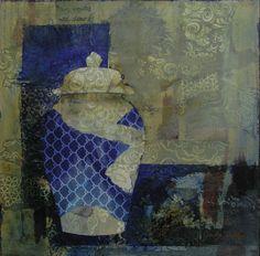 """""""Boro Vase...#mixed media by Judy Thorley"""