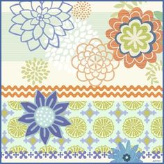 Flower Party ZigZag by Jennifer Brinley | Ruth Levison Design