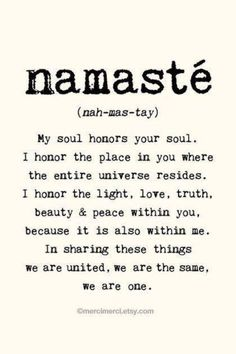 Yoga is such a powerful practice - and the teachings really resonate with us. Finding an inner peace through yoga and meditation will be encourage at Aroha, our community funded wellness retreat. Until we can welcome you in Greece, namaste to you all! The Words, Yoga Inspiration, Positive Inspiration, Motivation Inspiration, Fitness Inspiration, Yoga Quotes, Me Quotes, Namaste Quotes, Yoga Sayings