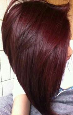Beautiful dark red hair