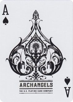 The Ace of Spades from Bicycle® Archangels Playing Cards