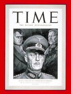 TIME Magazine Cover: General Wilhelm Keitel - July 14, 1941 - Germany - Military - Nazism - Nazism