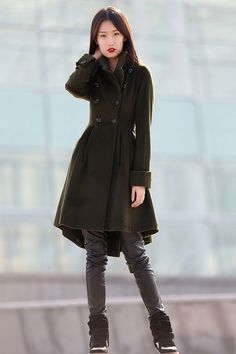 30% Off SALE Camel Cashmere Coat Long Sleeve Wool Jacket Big Sweep