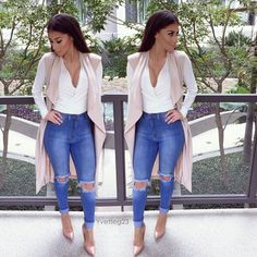 """YVETTE GARCIA on Instagram: """"#ootd Top: @bellarteclothing use code Yvetteg for 20% off Jeans: @fashionnova use code Xoyvette to save at checkout. Pumps: @cicihot use code Yvette45 for 45% off the site.  #cicihot #FashionNova"""""""