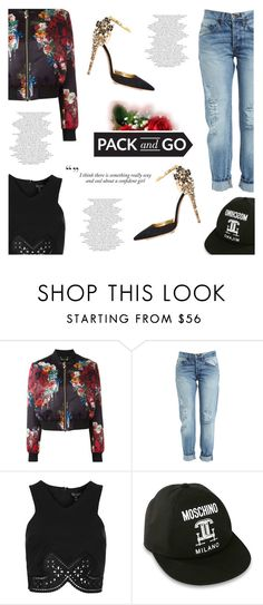 """Pack and Go: Labor Day"" by antemore-765 ❤ liked on Polyvore featuring Philipp Plein, Bardot, Topshop, Dsquared2, Haze and Moschino"