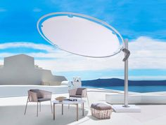 Side Post Umbrella Umbrosa Eclipse Offset Modern Shade Perfectly Adorns Any Outdoor Setting