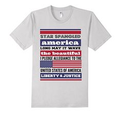 Star Spangled America - Classic Fit T Tee Shirt. Say it in Red, White & Blue. Original Diva Duds wear. Available in 5 colors. Buy it on Amazon !