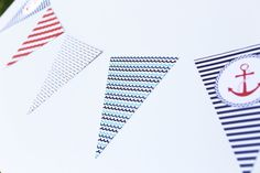 Nautical theme, pennant banner by moushii. Great for birthdays/baby showers| www.moushii.com