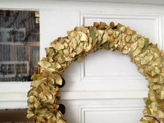 gilded gingko wreath by abney & morton