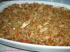 Je cherchais un bon riz pour accompagner mes mets chinois et j'avais cette recette en réserve depuis belle lurette. Il est délicieux mais ...