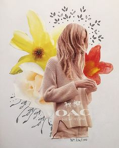 flower collage by kate rabbit - No. 26/100