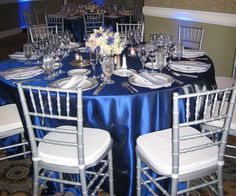 Royal Blue Wedding Decorations And Ideas Ritz Carlton S Silver Trademark Colors Into