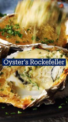Fish Recipes, Seafood Recipes, Appetizer Recipes, Dinner Recipes, Appetizers, Cooking Recipes, Healthy Recipes, Tastemade Recipes, Oysters Rockefeller