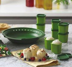 9-Pc Accessory Set for Tupperware SmartSteamer - Save 40% - Create delectable desserts like flan, cakes and puddings, steamed grains and sauces or make poached eggs with these accessories, the Tupperware® Smart Steamer and a microwave.  Limit one with each $75 order. Includes eight 2 ½-oz./80 mL CrystalWave® Ramekins with seals and a 2-cup/500 mL Slow-Cooking Sauce Insert. Dishwasher safe. (Reg. $43.75) - $25