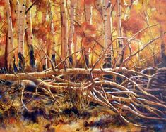 """Landscape Artists International: Original Colorado Landscape Painting """"Bathed in Gold"""" by Colorado Artist Nancee Jean Busse, Painter of The American West Wildlife Paintings, Wildlife Art, Animal Paintings, Art Paintings, Western Landscape, Landscape Art, Landscape Paintings, Caribbean Art, Funky Art"""