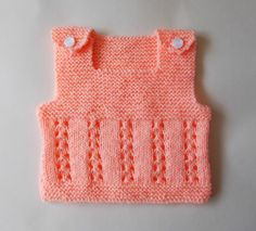 This cute little lacy vest top is just perfect for the warmer days ahead. mens denim style Baby's Lacy Vest Top pattern by marianna mel Knitting For Charity, Knitting Blogs, Knitting For Kids, Crochet For Kids, Knitting Designs, Knit Crochet, Free Knitting, Baby Cardigan, Baby Pullover