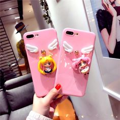 Trend Cartoon Cute Sailor Moon Angel wing soft case cover for iphone 7 6 6S plus #UnbrandedGeneric