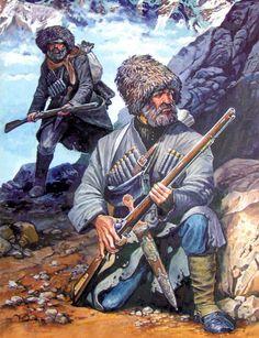 "Studio ""Siberia"" forum --- Forum: XIX century / XIX век --- Thread: The Conquest of the Caucasus. Military Art, Military History, Illustrations, Illustration Art, Eslava, Crimean War, Ukrainian Art, Historical Art, Mountain Man"