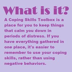 How to make a coping skills toolbox