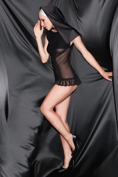 Amoralle sheer mini nightdress
