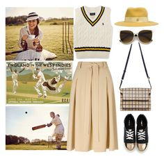 """""""Combed Cotton Cricket Vest"""" by thestyleartisan ❤ liked on Polyvore featuring Pippa, Maison Michel, Members Only and Miss Selfridge"""
