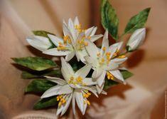 """Купить """"ДЕКАБРЬ"""" (2 слоя шелка) - комбинированный, цветы апельсина, цветы, цветы ручной работы"""