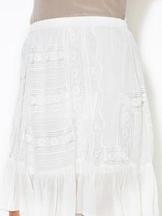 Bardot Lace Detail Skirt by Gold Hawk