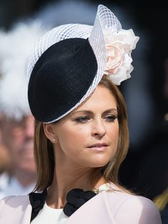 Princess Madeleine of Sweden attends the celebrations of the Swedish Armed Forces for the birthday of King Carl Gustaf of Sweden on April 2016 in Stockholm, Sweden. Swedish Armed Forces, Thanksgiving Service, Swedish Royalty, Leather Hats, Crown Princess Victoria, Royal Fashion, Kate Middleton, Amelie, Mother Of The Bride