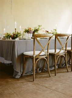 delicate, vintage details for a dreamy table scape | via: once wed