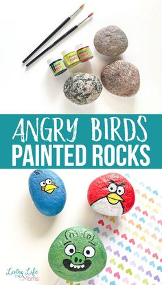 Make your own Angry Birds characters with these fun Angry Birds Painted Rocks! With just a few paints, some patience and some small rocks, make yours here! My kids loved these Angry Birds rock painting tutorial! Cool Diy Projects, Projects For Kids, Art Projects, Easy Diy Crafts, Diy Crafts For Kids, Craft Ideas, Rock Crafts, Arts And Crafts, Angry Birds Characters