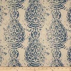 Premier Prints Manchester Blend Laken Indigo from @fabricdotcom  Screen printed on cotton/rayon blend, this fabric