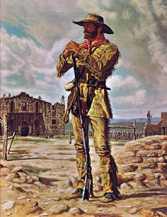 Texas Revolution - Heroes of the Alamo: William Travis, James Bowie & Davy Crockett - Mexican American War, Native American Indians, American History, American Women, Western Comics, Western Art, Western Cowboy, Texas Revolution, Westerns