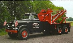 1957 GMC MODEL 630 WITH A HOLMES 850 WRECKER