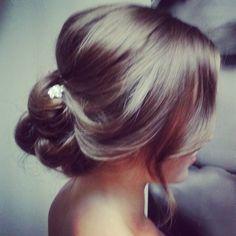 Wedding Updo Soft Romantic Hair by Carmen Cabrera www.carmencabrera.com