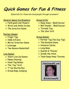 John Jones PE...Quick Games and Activities- Great book!!!