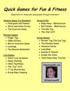 John Jones PE...Quick Games and Activities- Great book!!!