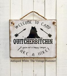 Camp sign wood sign saying wood sign outdoor decor farmhouse arrows camper sign hiking sign camp RV happy camper welcome sign c h a l k Camping Hacks With Kids, Camping Bedarf, Retro Camping, Camping Lights, Outdoor Camping, Camping Ideas, Camping Stuff, Campsite, Camping Heater