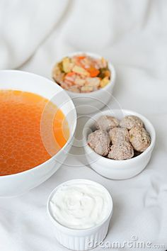Soup with ingredients