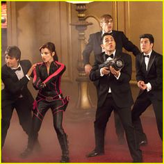 Whatever is going on it appears to be very dangerous! You know that there has to be some comedy going on if Big Time Rush members James, Kendall, Logan and Carlos are involved. Big Time Movie premiers on Nickelodeon this Saturday At 8:00 pm EST.