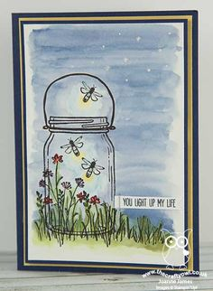 The Crafty Owl | Jar of Love Light-Up Fireflies Card, Everyday Jars, Stampin Up, In the Meadow
