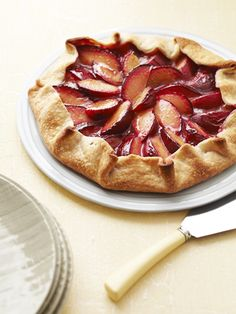 For an easy-bake dessert that is the perfect combination of fruity and sweet, whip up this Plum Tart.