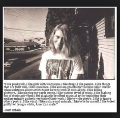 Kurt Cobain quote <3 Nirvana