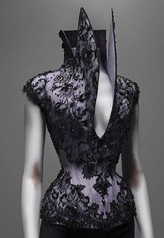 Corset by Alexander McQueen, of collection Dante, Winter 1997